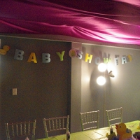 baby shower venue and favors at bath junkie