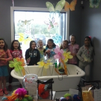 kids birthday parties at bath junkie custom made products