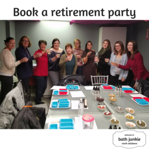 Retirement parties at bath junkie