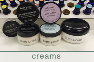 body products at bath junkie hand and food creams