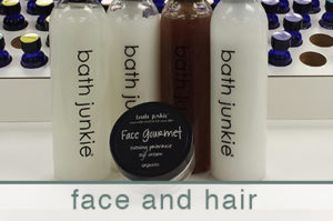 face and hair products custom made at bath junkie
