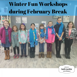 Kids Workshops during February Break at bath junkie